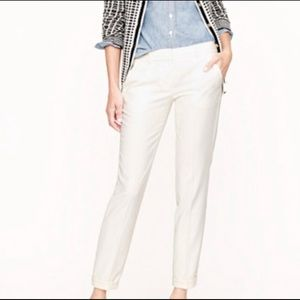 J. Crew Stretch City Fit White Pants